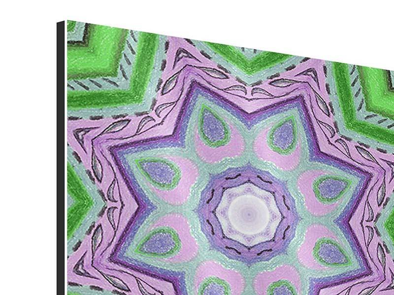 Aluminiumbild 4-teilig Paisley-Style