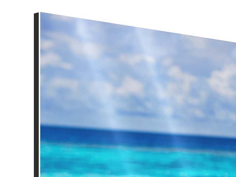 Aluminiumbild Der Pool ins Meer