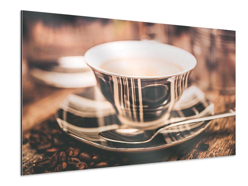 Aluminiumbild Der Kaffee ist fertig