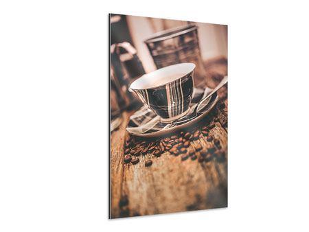 Aluminiumbild Die Tasse Kaffee