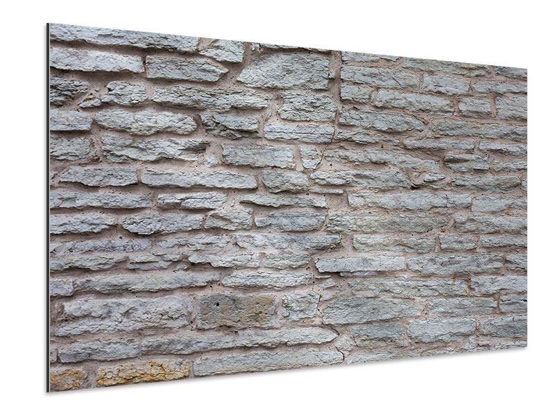 Aluminiumbild Steinmauer