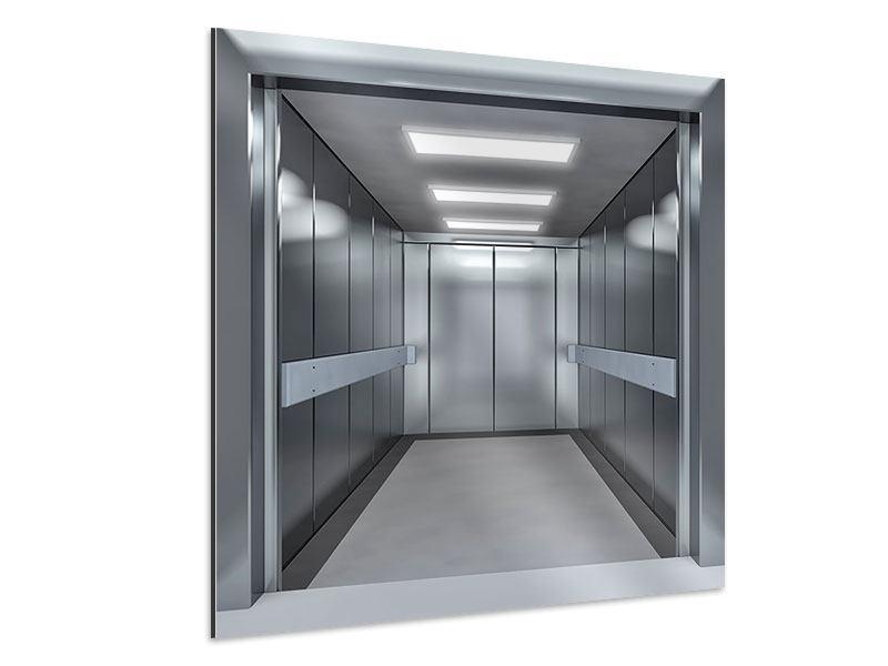 Aluminiumbild Aufzug