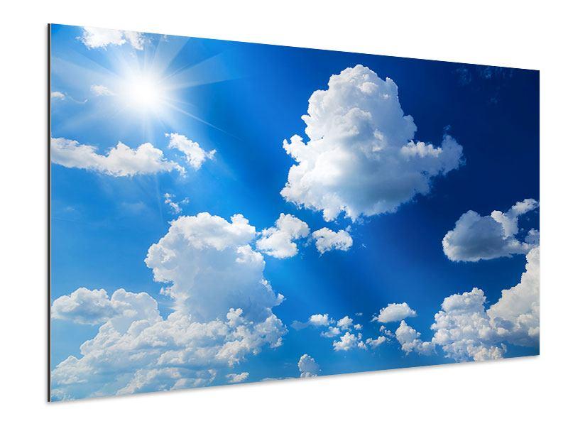 Aluminiumbild Himmelblau