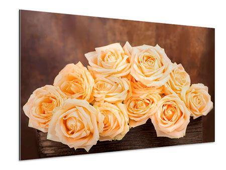 Aluminiumbild Die Rosenzeit