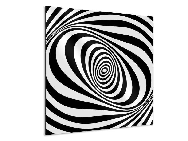 Aluminiumbild Abstrakte Wandbewegung