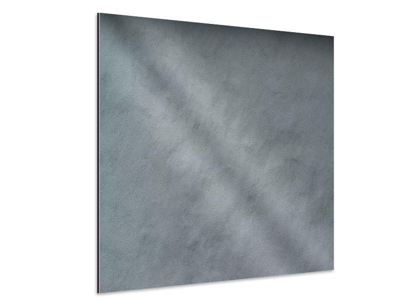 Aluminiumbild Dunkelgraue Wand