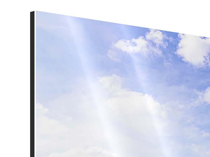 Aluminiumbild Eckball