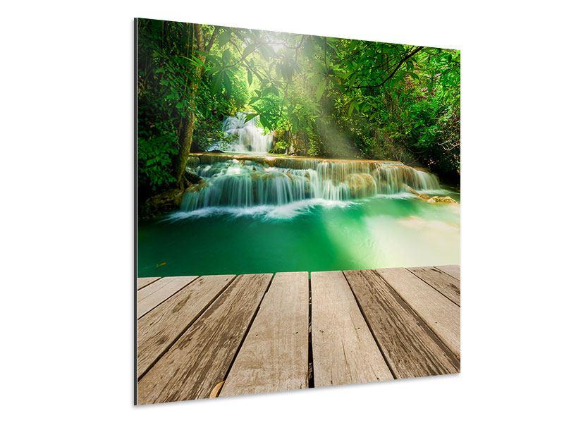 Aluminiumbild Wasserfall Thailand