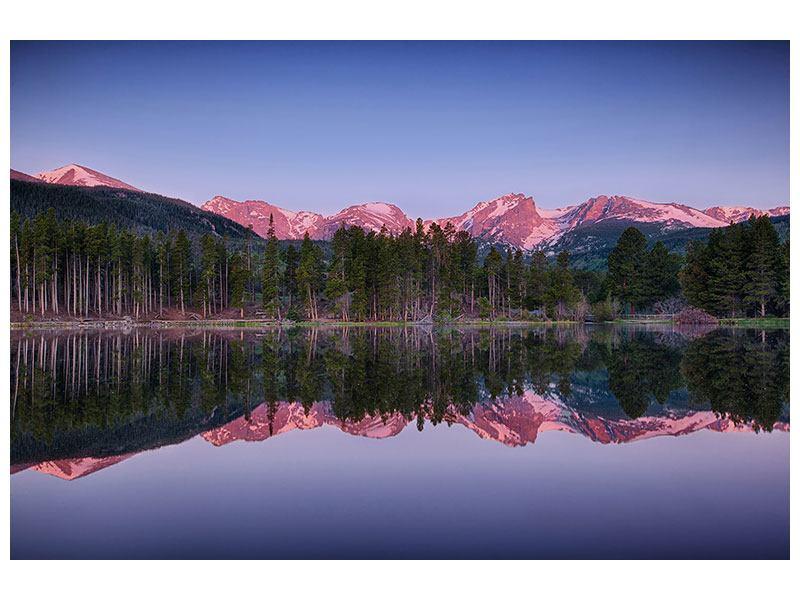 Aluminiumbild Sprague Lake-Rocky Mountains