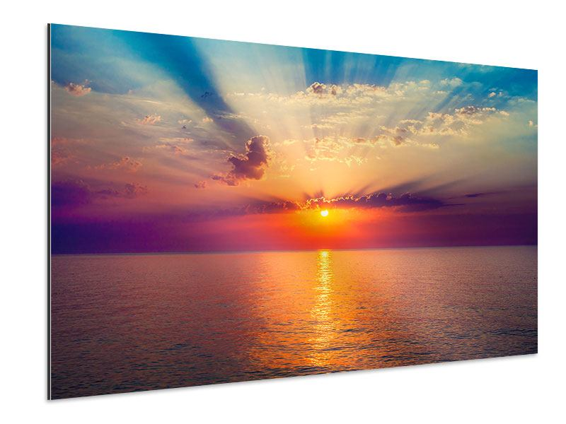 Aluminiumbild Mystischer Sonnenaufgang
