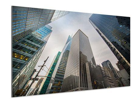 Aluminiumbild Hochhäuser