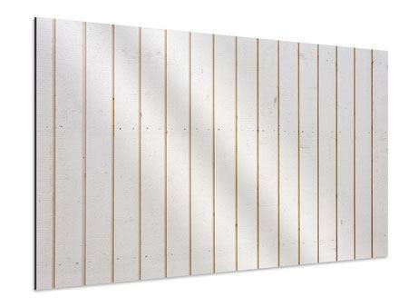 Aluminiumbild Mediterranes Holz
