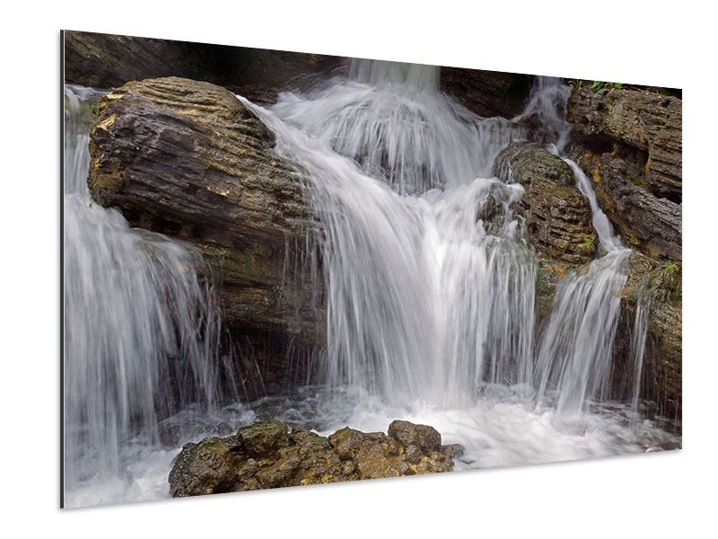 Aluminiumbild Wasserfall XXL