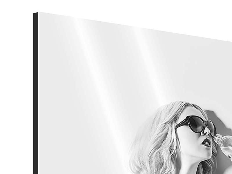 Aluminiumbild Fotomodel