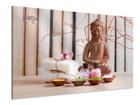 Aluminiumbild Buddha + Wellness