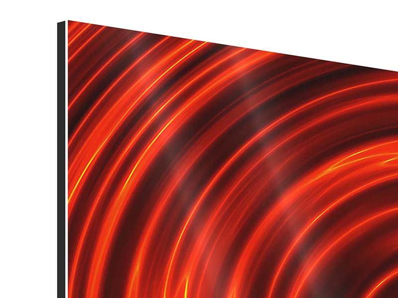 Aluminiumbild Abstrakte Rote Wirbel