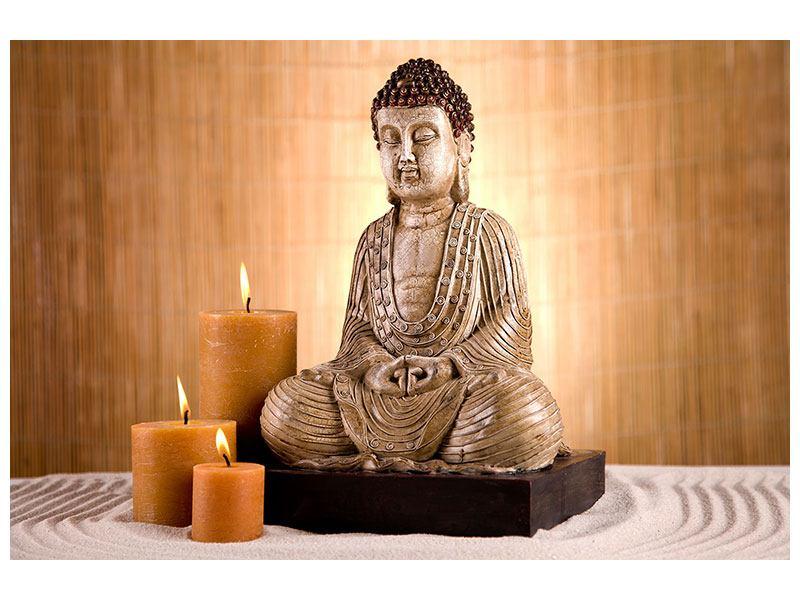Aluminiumbild Buddha in der Meditation