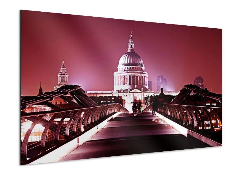 Aluminiumbild Millennium Bridge