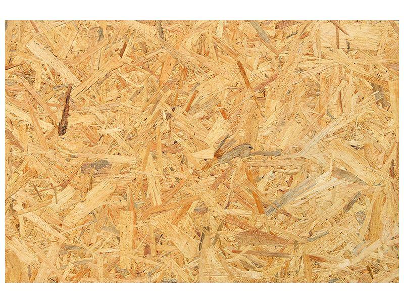 Aluminiumbild Gepresstes Holz