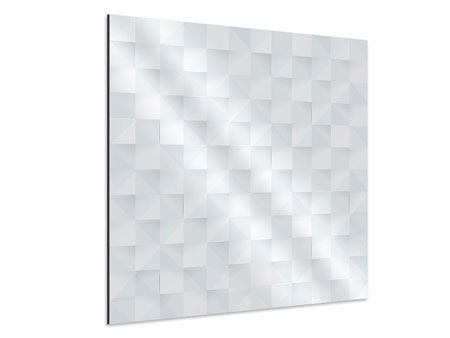 Aluminiumbild 3D-Schachbrett
