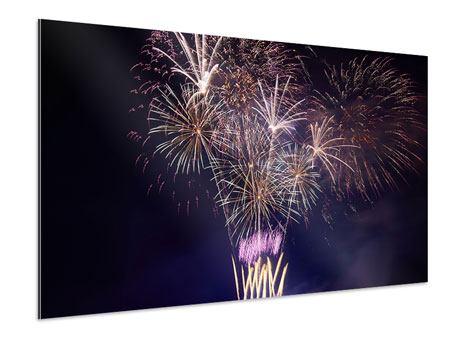 Aluminiumbild Feuerwerk
