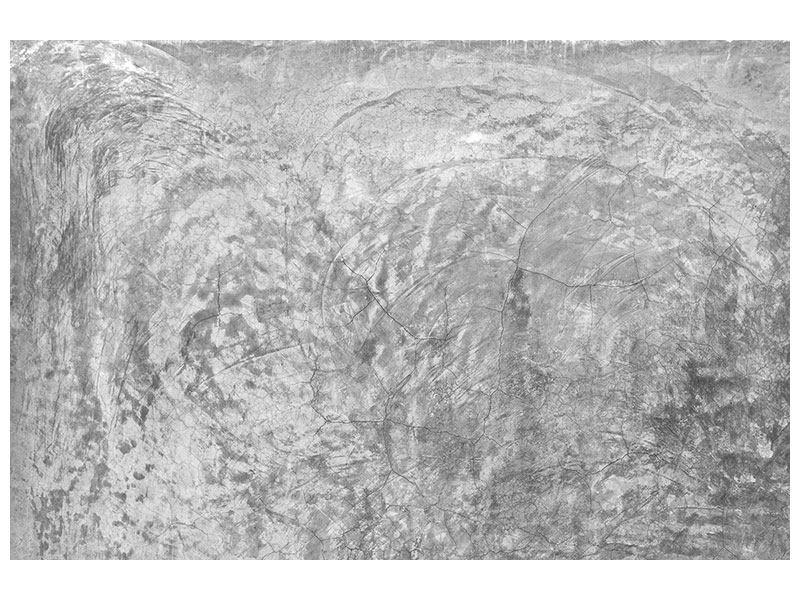 Aluminiumbild Wischtechnik in Grau