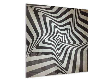 Aluminiumbild Abstrakte Bewegungen