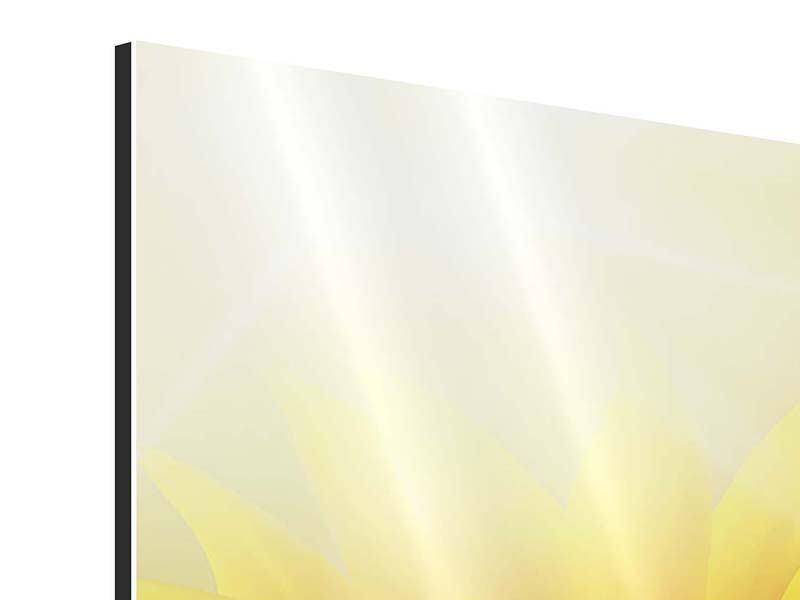 Aluminiumbild Sonnenblume im Morgentau