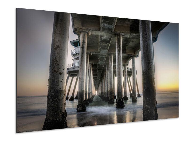 Aluminiumbild Brückenpfeiler
