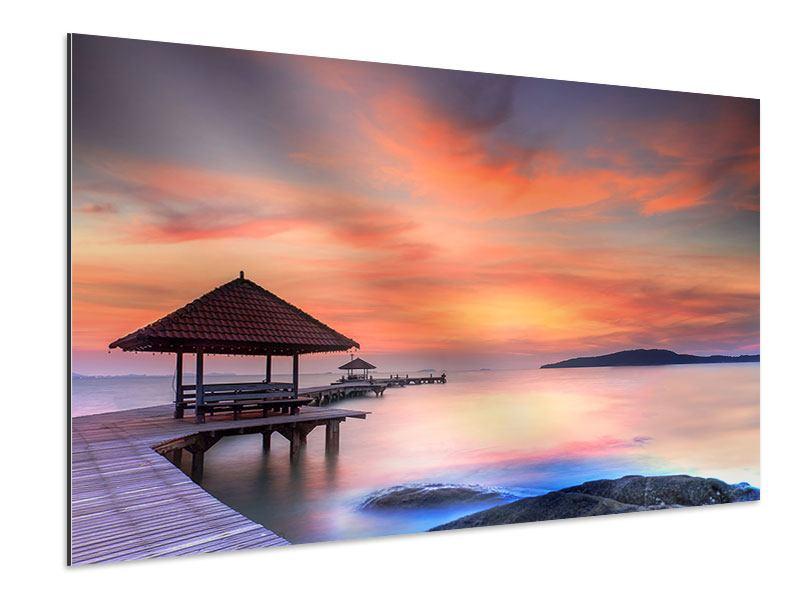 Aluminiumbild Paradiesische Brücke