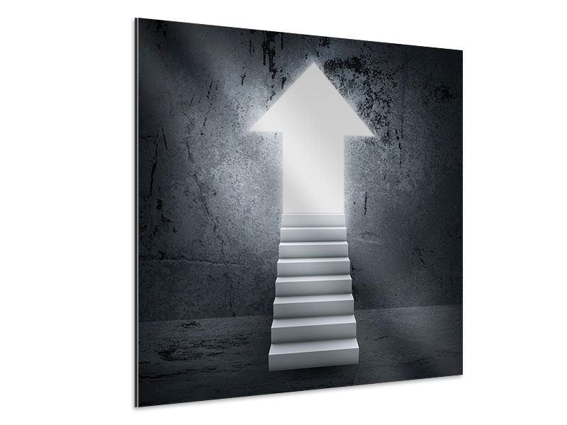 Aluminiumbild Der Aufstieg