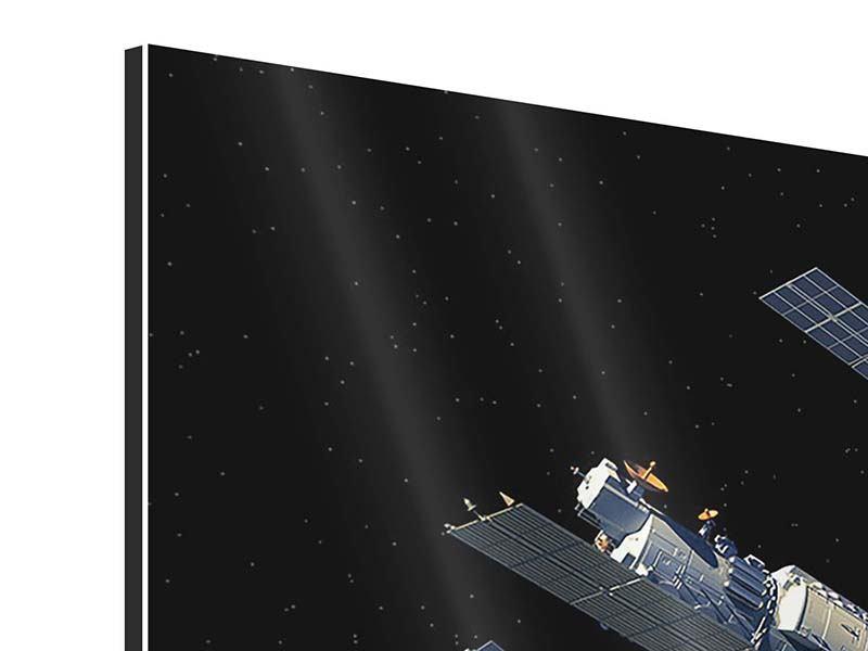 Aluminiumbild Raumstation