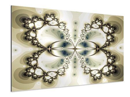 Aluminiumbild Abstrakter Schmetterling