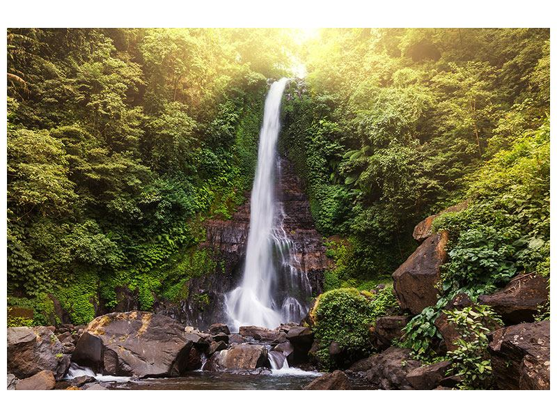Aluminiumbild Wasserfall Bali