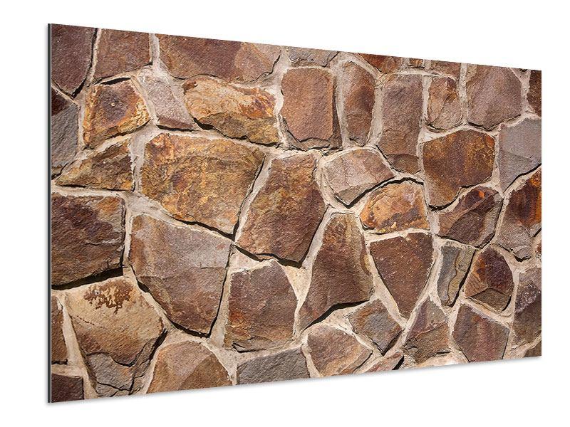 Aluminiumbild Designmauer