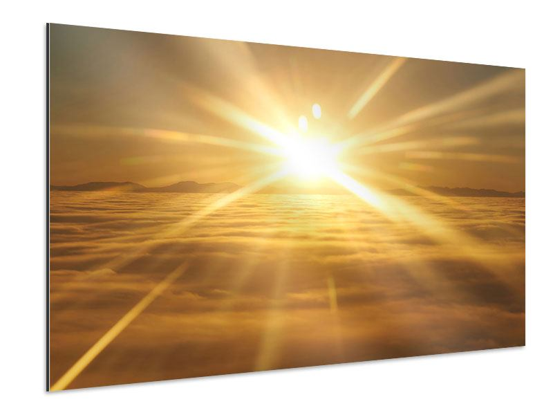 Aluminiumbild Über dem Wolkenmeer