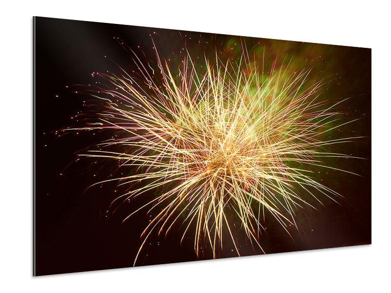 Aluminiumbild Feuerwerk XXL