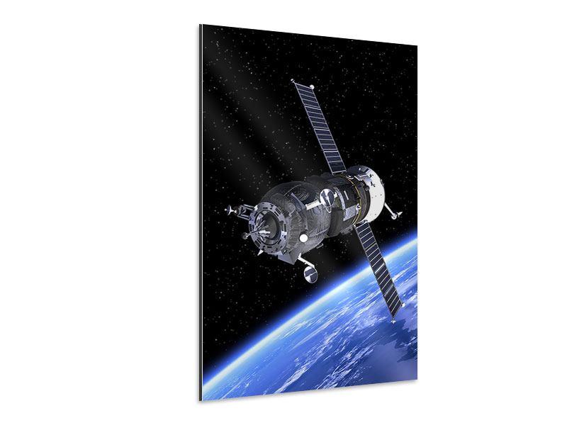 Aluminiumbild Flug im Weltall