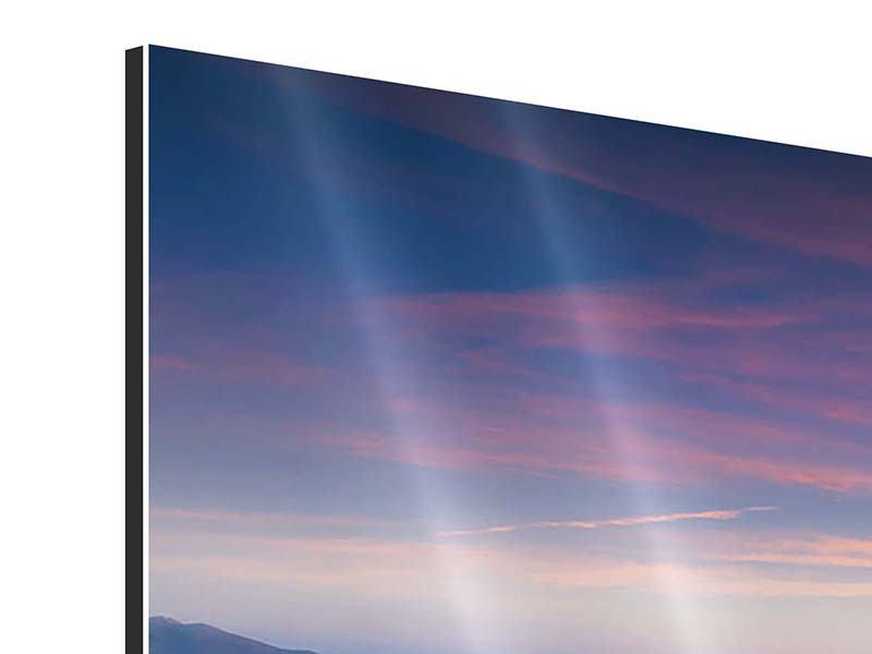 Aluminiumbild Sonnenuntergang in den Alpen