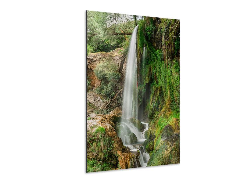 Aluminiumbild Klarer Wasserfall