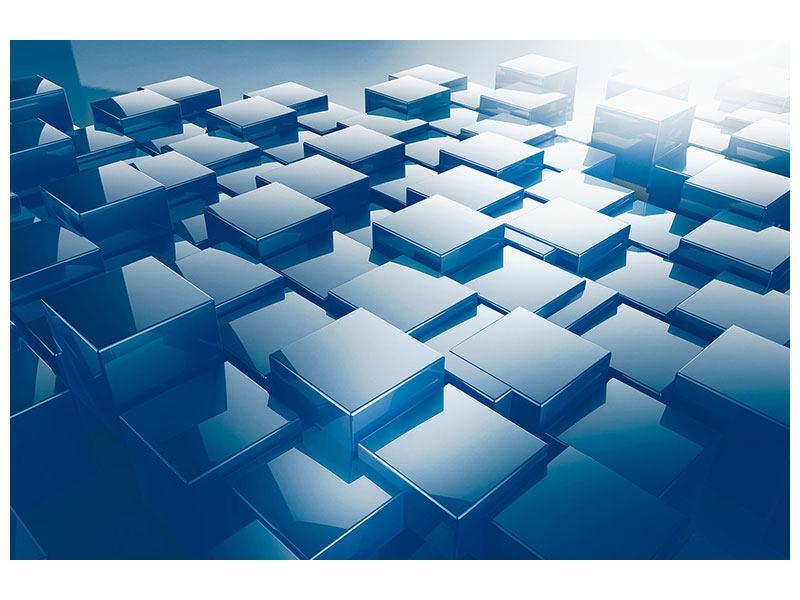 Aluminiumbild 3D-Cubes
