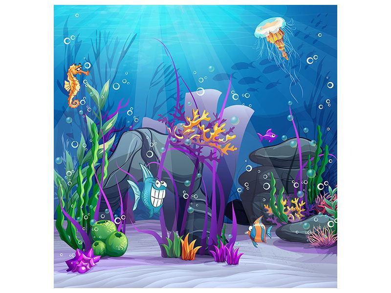 Aluminiumbild Unterwasserschatzsuche