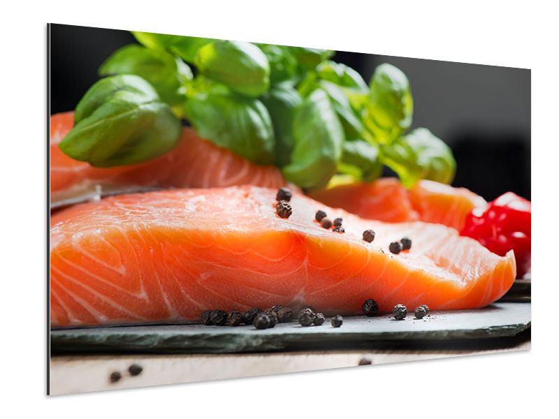 Aluminiumbild Frischer Fisch