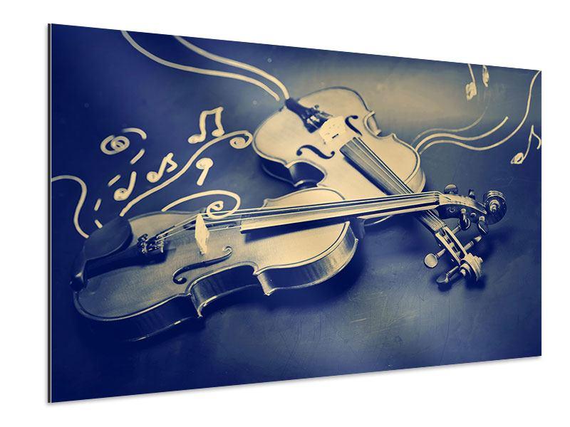 Aluminiumbild Geigen