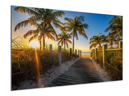 Aluminiumbild Das Strandhaus