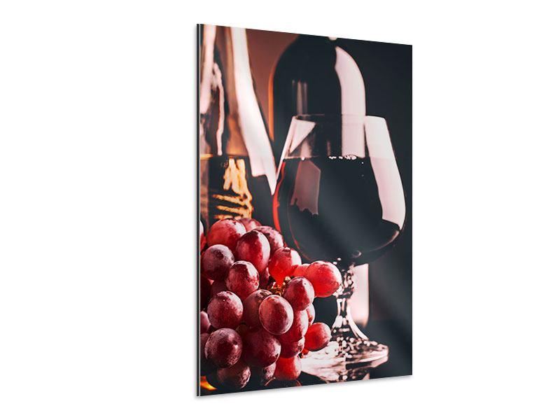 Aluminiumbild Rotwein
