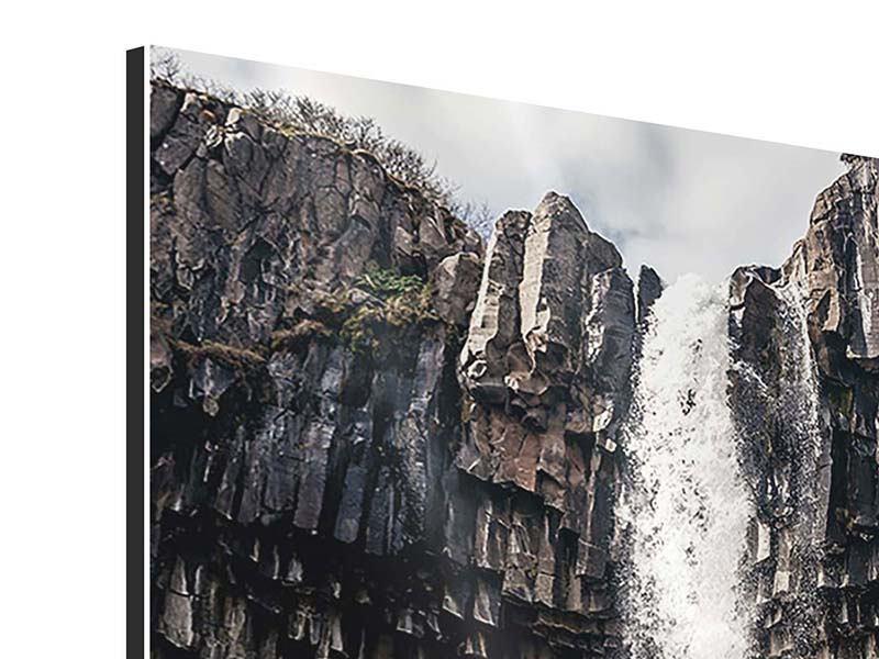 Aluminiumbild Wasserfall Island