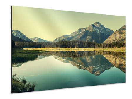 Aluminiumbild Der Bergsee