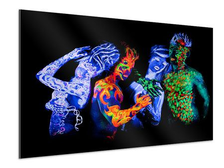 Aluminiumbild Bodypainting