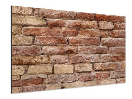 Aluminiumbild Loft-Mauer